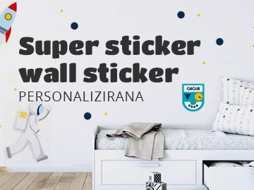 Super sticker wall sticker